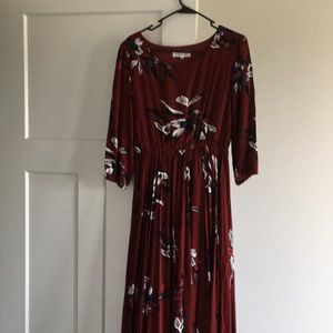 Chicwish Keep Swinging maxi dress small
